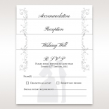 Bridal Romance wedding gift registry invite card