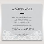 Charming Rustic Laser Cut Wrap wedding stationery wishing well enclosure card