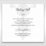 Classic Ivory Damask gift registry enclosure stationery card design