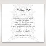 Enchanting Ivory Laser Cut Floral Wrap wishing well enclosure card design