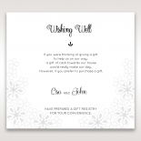 Floral Cluster wishing well wedding card design