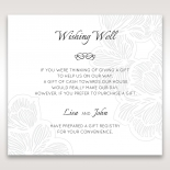 Floral Laser Cut Elegance gift registry invite card design