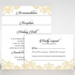Golden Baroque Pocket wedding stationery wishing well invitation card design