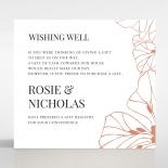Grand Flora wedding stationery gift registry card