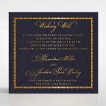Lux Royal Lace with Foil wishing well stationery invite card