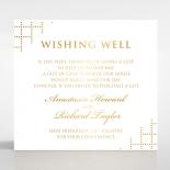 Quilted Letterpress Elegance with foil gift registry card