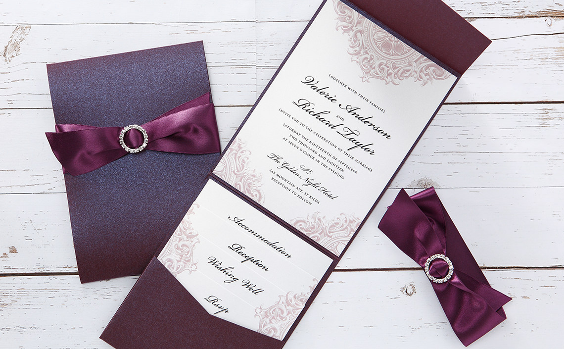 Custom Made Wedding Invitations: Handmade Wedding Invitations & Personalised Wedding Cards